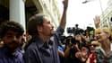 Pablo Iglesias, le leader de Podemos, à la mairie de Madrid le 13 juin dernier.