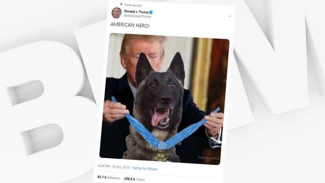 Le photomontage publié sur le compte du président américain.