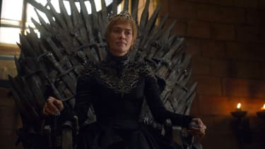Cersei  sur le Trône de Fer, dans Game Of Thrones