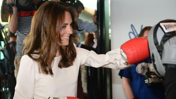 Kate Middleton boxe à Londres le 16 mai 2016