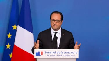 François Hollande lors du sommet européen qui s'est tenu à Bruxelles le 7 juillet dernier.