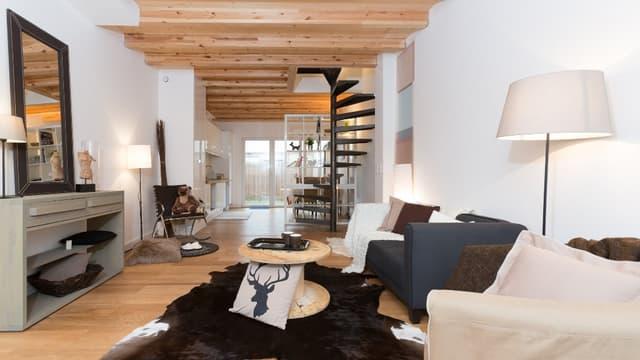 Un salon réagencé par Home staging Experts