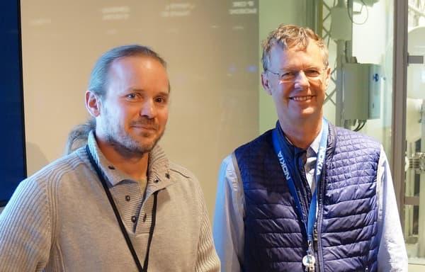 Gérard Burnside et Philippe Jacquet du Nokia Bell Labs.