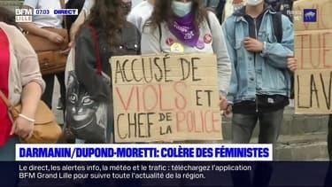 Darmanin/Dupond-Moretti: manifestation féministe à Lille