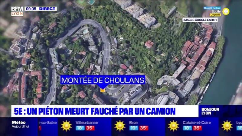 Lyon: un camion se renverse dans la montée de Choulans, un piéton tué