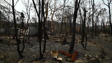 Une maison brûlée à Budgong, en Nouvelle-Galle-du-Sud, le 15 janvier 2020.