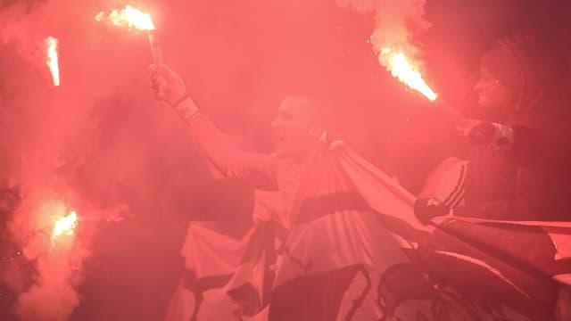 Les Lyonnais en pleine fête