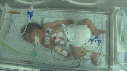 Shayma est née il y a cinq jours, par césarienne, à Gaza.