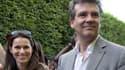 Arnaud Montebourg et Aurélie Filippetti en juin 2014 à la fête de la musique.