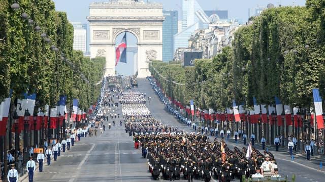 Le défilé du 14-Juillet - Image d'illustration