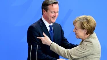 David Cameron et Angela Merkel lors de leur rencontre ce vendredi