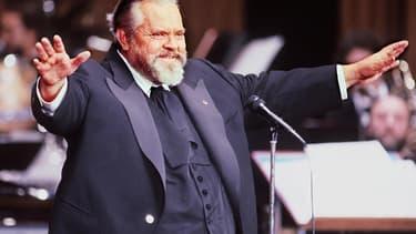 Orson Welles, président de la cérémonie des César, en 1982.