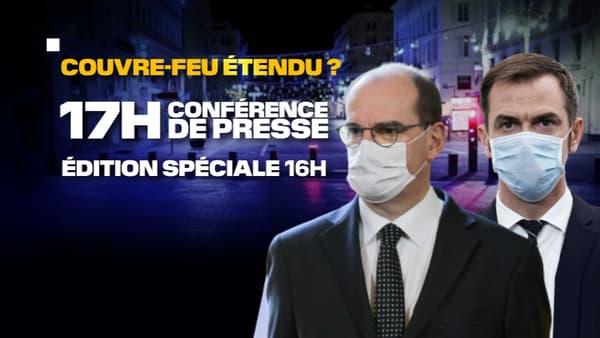 Jean Castex et Olivier Véran tiendront une nouvelle conférence de presse sur le Covid-19 ce 22 octobre 2020.