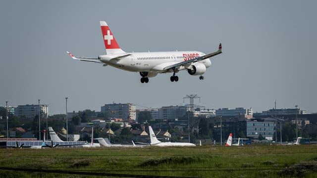 Un avion Swiss Air