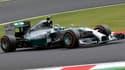 La mercedes de Lewis Hamilton, l'actuel leader du championnat du monde.