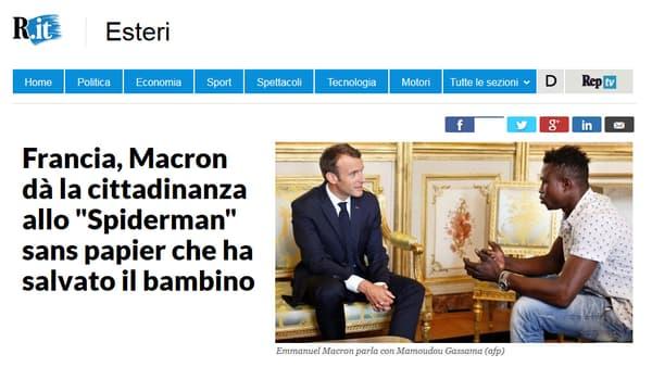Sur le site du quotidien italien La Repubblica.