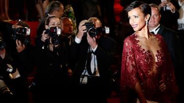Sonia Rolland lors de la montée des marches du Festival de Cannes, en mai 2014.