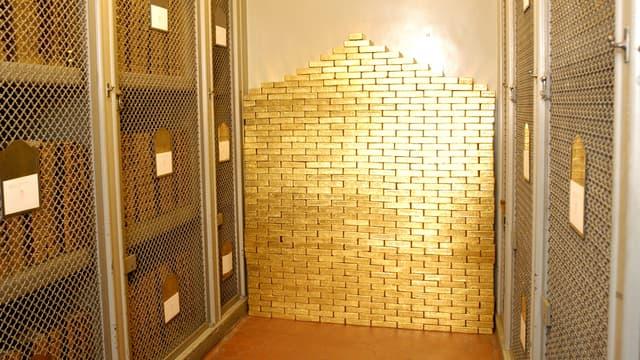 """Des milliers de lingots d'or sont entreposés dans la """"Souterraine""""."""