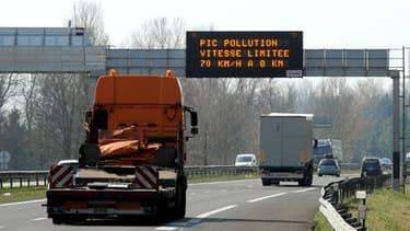 Vue de l'autoroute A41 à hauteur de Grenoble, le 14 mars.