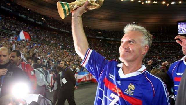 Didier Deschamps lors des 10 ans de la victoire en Coupe du monde
