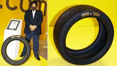 Harjeev Kandhari, patron de la maison mère de Z Tyre, promet que les recettes de la vente du pneu seront reversées à des oeuvres caritatives.