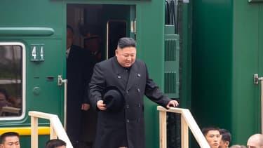 Kim Jong-Un à Khasan, frontalière de la Corée du Nord et de la Chine, le 24 avril 2019.