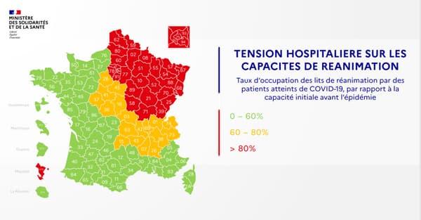 Déconfinement: trois nouveaux départements en vert sur la carte de synthèse du gouvernement