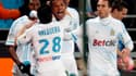 Loïc Rémy félicité après son but contre Lille