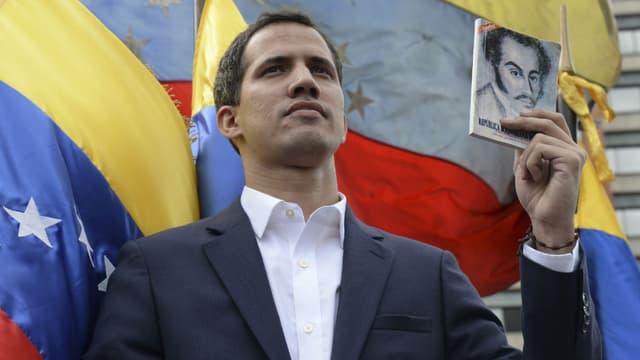 L'opposant Juan Guaido s'est autoproclamé président par interim du Venezuela le 23 janvier 2019 -