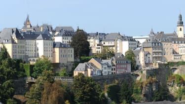 Photo de Luxembourg-Ville, quartier du Grund, prise le 7 septembre 2009