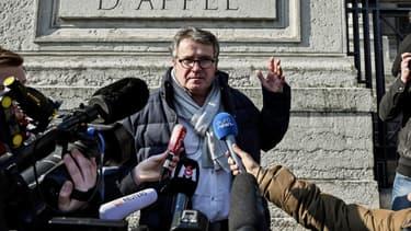 L'agriculteur Paul François, à la sortie de son procès en appel contre la firme Monsanto, à Lyon, le 6 février 2019.