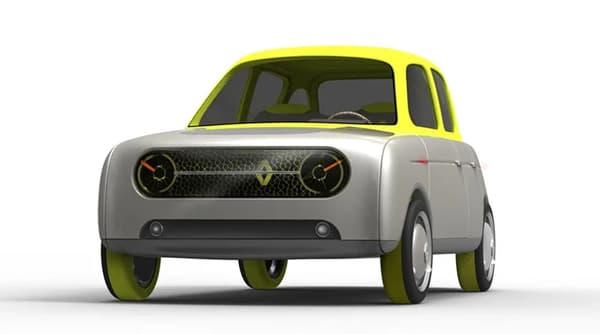 Le concept Renault Eleve, une 4L du futur, par l'Américain Allen Zadeh.
