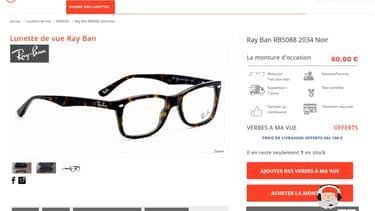 Mybinocle propose plus de 2.000 paires de lunettes de marque.