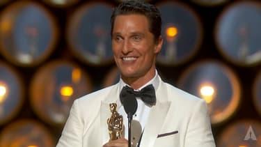 Matthew McConaughey aux Oscars en 2014