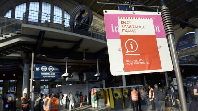 """Un dispositif """"SNCF Exams"""" sera mis en place lors des différentes épreuves risquant d'être perturbées par la mobilisation des cheminots."""