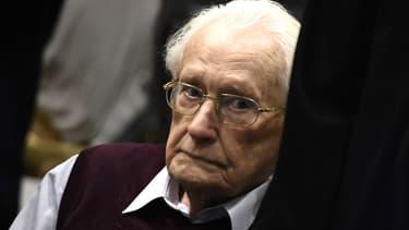 Oskar Gröning lors de son procès à Lueneburg, en Allemagne, le 15 juillet 2017