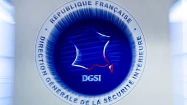 Le logo de la Direction Générale de la Sécurité Intérieure, DGSI, à Levallois-Perret, le 13 juillet 2018 (photo d'illustration)