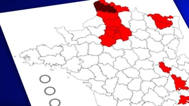 """La carte des départements sous """"surveillance renforcée"""""""