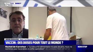"""Serge Grouard (maire LR d'Orléans): """"Il n'y a pas de problème de logistique (...) mais nous n'avons que 200 doses par jour, par centre"""""""