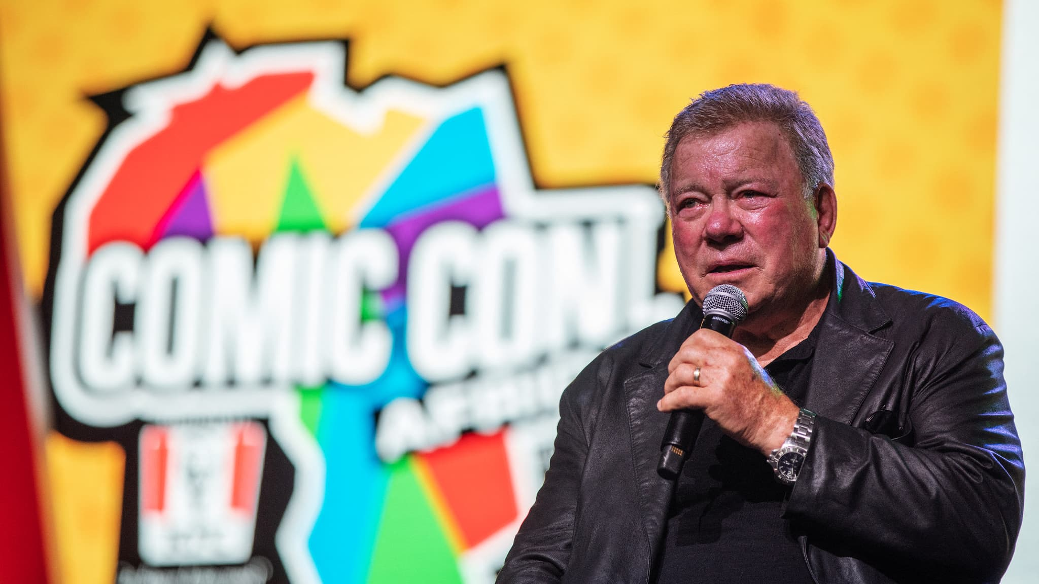 william shatner says he is terrified before going to