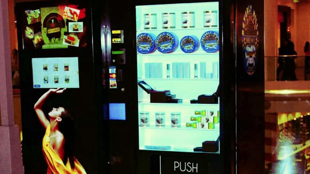 Les distributeurs de caviar de Beverly Hills sont équipés d'écrans tactiles.