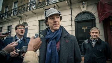 Benedict Cumberbatch et Martin Freeman dans Sherlock, la série de la BBC.