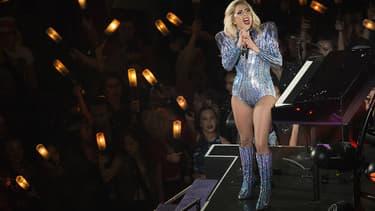 Lady Gaga sur scène durant le SuperBowl le 5 février 2017
