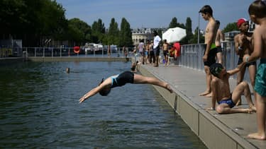 La baignade est interdite ce lundi dans le bassin de la Villette.