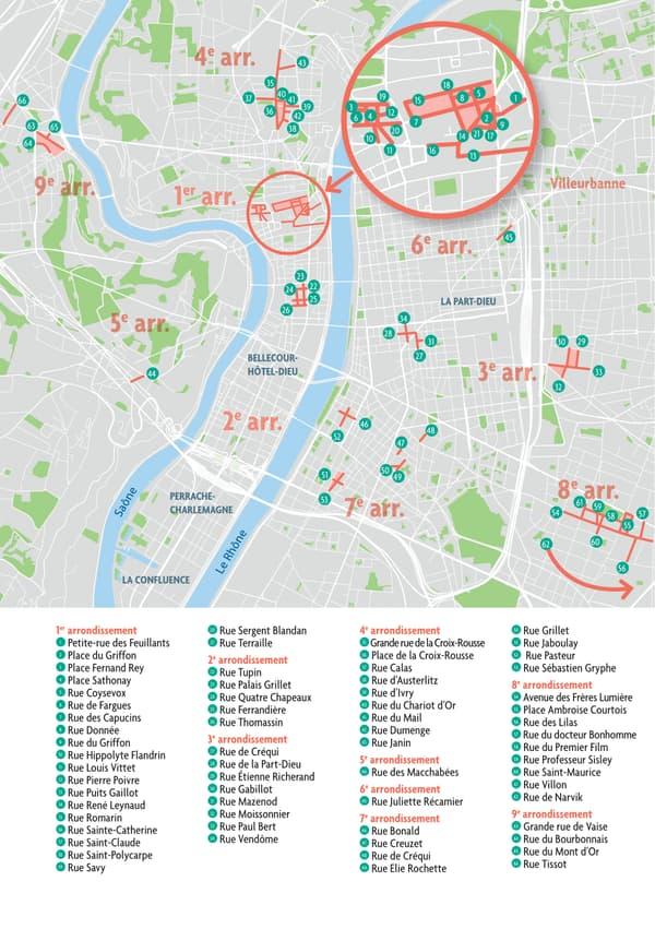 Liste des rues concernées par la piétonnisation ce samedi