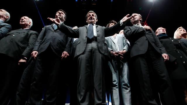 Nicolas Sarkozy en meeting à Nice mercredi 22 avril
