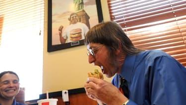 Don Gorske en 2011, mange son 25.000 Big Mac.