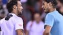 Fabio Fognini et Rafael Nadal.