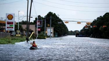 Inondations à Houston après le passage de l'ouragan Harvey, le 30 août 2017 au Texas