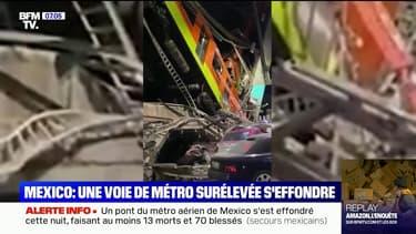 Mexico: les secouristes s'affairent pour sauver des blessés après l'effondrement d'un pont du métro